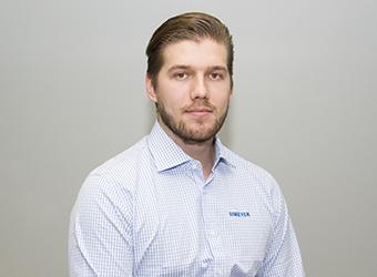 Simetek Works Oy Ville Kinnunen, työnjohtaja asennus ja kunnossapito